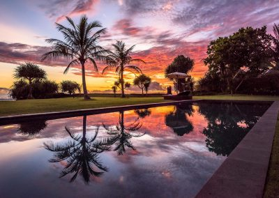 WakaGangga Swimming Pool Sunset Reflections